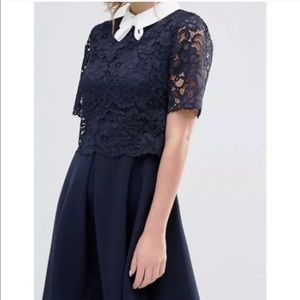 """Ted Baker """"Dixxy"""" navy lace dress NWOT"""